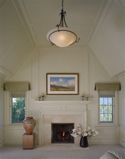vaulted ceiling ledge decorating bedroom with