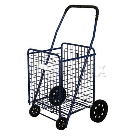 shopping cart wm99017 folding shopping cart w dual basket swivel 4