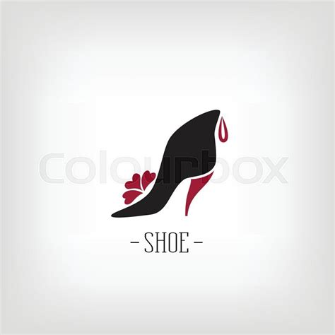 sneaker logo design stylized womens shoes on a white background logo shoe