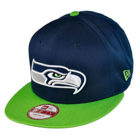 Seattle Seahawks Cap by New Era Seattle Seahawks Nfl 9fifty Snapback Baseball Cap