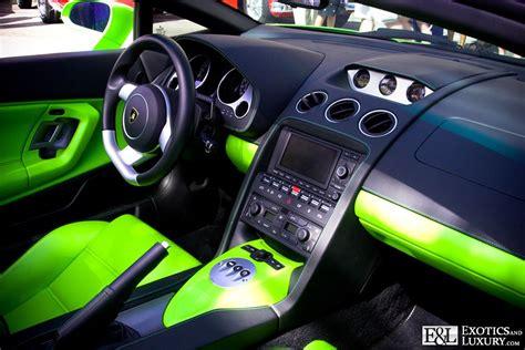 lamborghini custom interior lamborghini gallardo spyder lime green and black custom