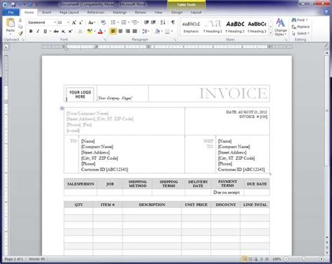 how to make a invoice template in word free invoice template