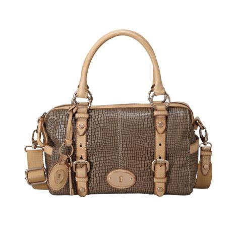 Fossil Satchel Grey 1 fossil maddox embossed satchel in gray ash gray lyst