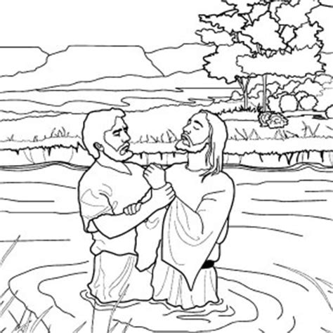free coloring page baptism of jesus pouring water at baptism coloring pages pouring water at