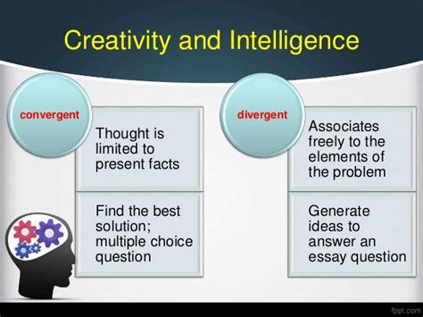 Free Essays On Creativity by Essay On Creativity And Intelligence Writingquizzes Web