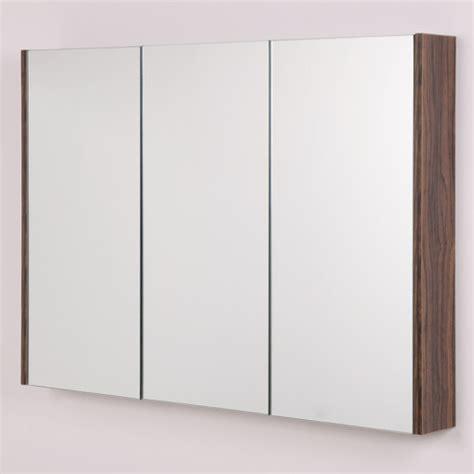 walnut mirror bathroom cabinet aspen 3 door walnut mirror cabinet 650 h 900 w 100 p