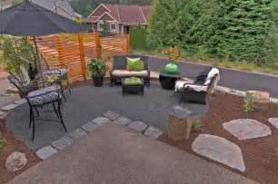 backyard patio ideas with gravel photos landscaping gardening ideas