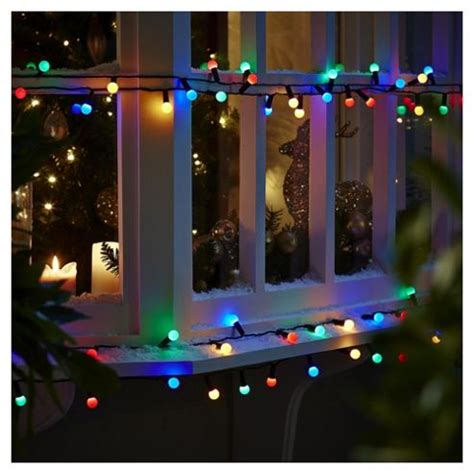 Buy 100 Berry Christmas Lights Coloured From Our All Tesco Lights Outdoor