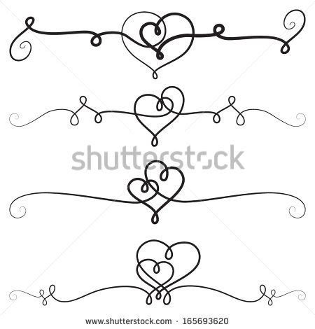 heart pattern programs in c decorative vignettes with hearts vintage borders scrolls
