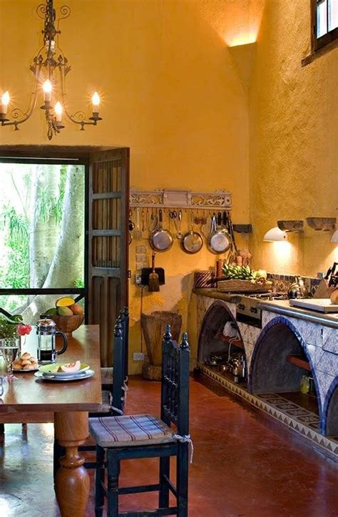 hacienda kitchen design achieve spanish style room by room happy style and