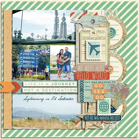scrapbook layout travel vacation scrapbooking layout scrapbooking pinterest
