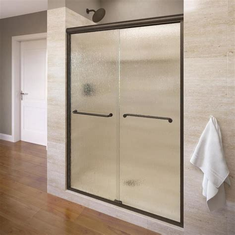 Bosco Shower Doors Shop Basco Infinity 44 In To 47 In Frameless Shower Door At Lowes