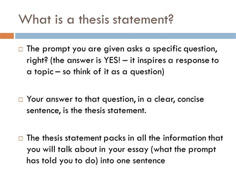 What Is A Thesis Statement In An Essay Exles by Easy Steps To A Great Thesis Statement Ppt