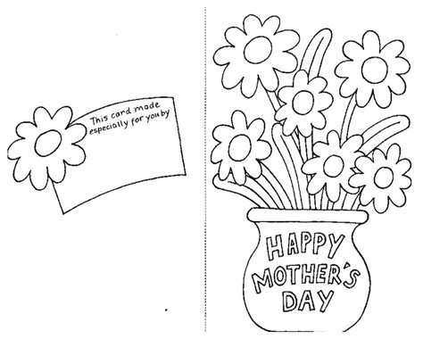 Religious Mothers Day Card Template by Mothers Day Coloring Pages Card And Flowers Coloringstar