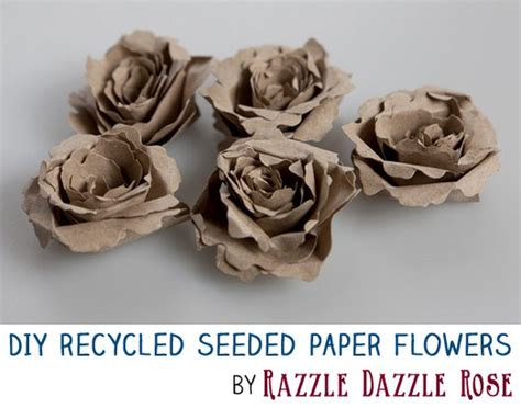 How To Make Recycled Paper Flowers - diy project make excellent handmade recycled seeded paper