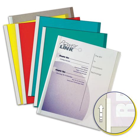 c line report covers with binding bars clear