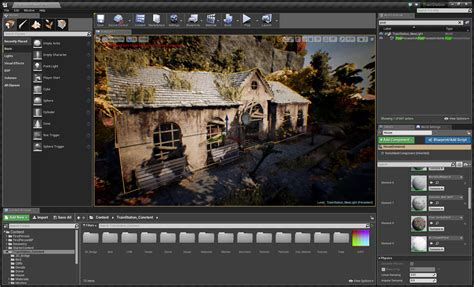 design game engine building abandoned station in unreal engine 4
