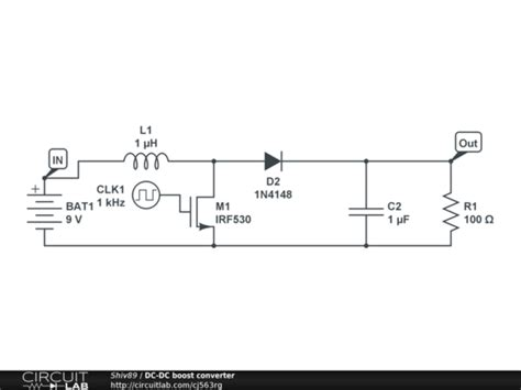 dc dc boost converter circuit diagrams dc dc boost converter circuitlab