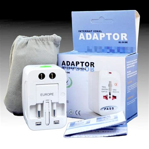 Promo Brand Steker Adaptor Universal All In One 1 2017 multi outlet adaptor comverter universal all in 1 travel electrical power adapter us