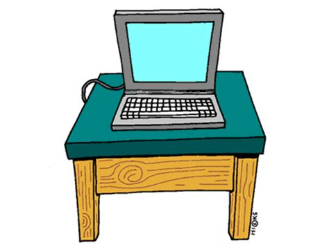 Computer Desk Clipart Two Step Equations Process