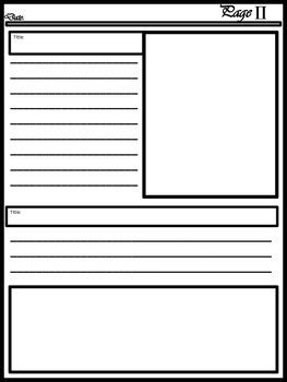 Blank Newspaper Template For Multi Uses By Kim Cherry Tpt Blank Newspaper Template
