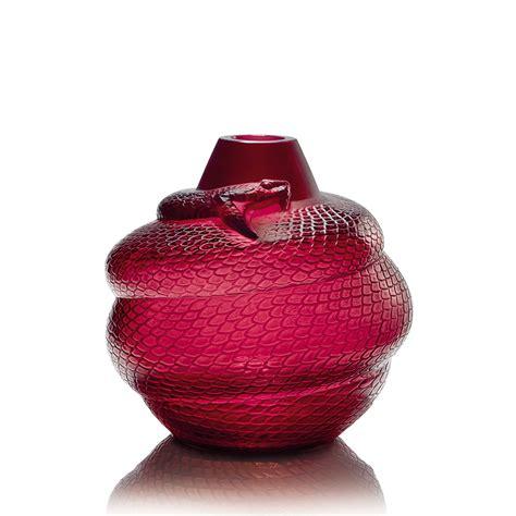 lalique vase vase serpent cristal vase lalique lalique