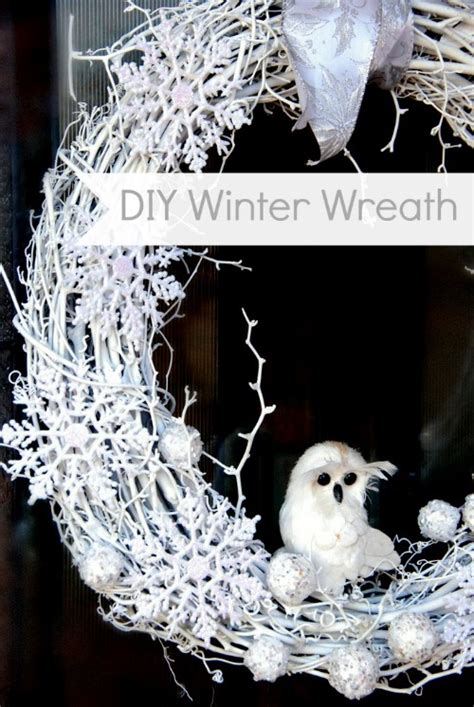 Diy Winter by Diy White Winter Wreath Tauni Co