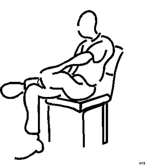 stuhl comic mann auf einem stuhl ausmalbild malvorlage comics