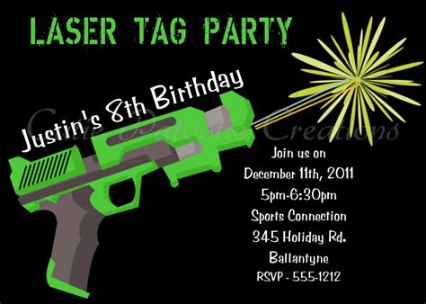 printable birthday invitations laser tag 9 best images of laser tag invitations free printable