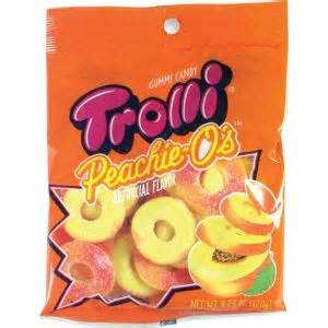 Wtroli Set 4 trolli peachie o s gummy 18pc city