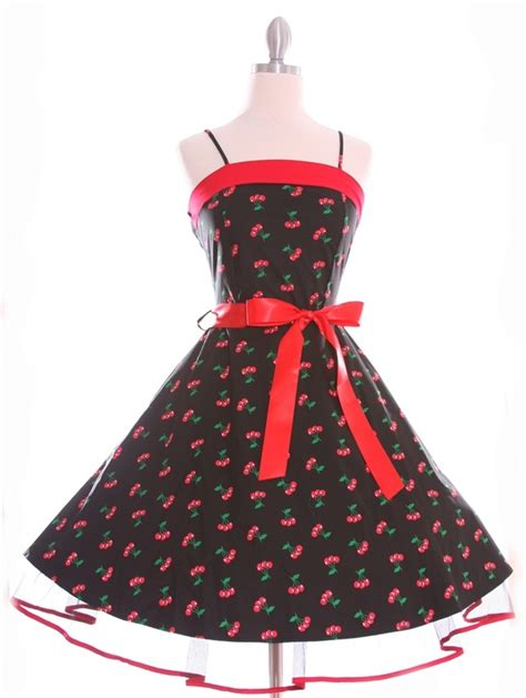 swing dancing attire cherry print 50 s swing dancing dress cute dresses