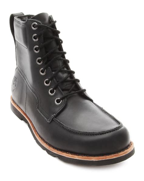 black rugged boots timberland earthkeeper rugged black boots in black for lyst