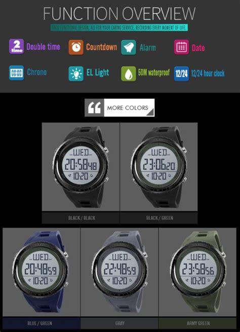 Jam Tangan Digital Skmei Dg1243 skmei jam tangan digital sporty pria 1310 black
