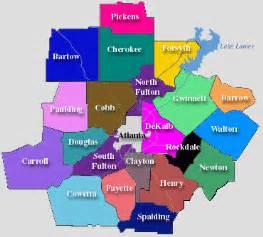Atlanta County Map by Colorful Atlanta Area Map Glimpses Of Atlanta Pinterest