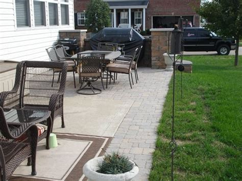 Patio Pavers For Grill Paver Patio With Area For Bbq Grill Yelp