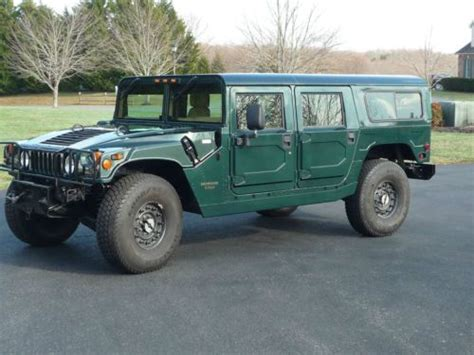 how cars work for dummies 1997 hummer h1 transmission control purchase used 1997 hummer h1 wagon only 25 000 miles 6 5l turbo diesel no reserve in
