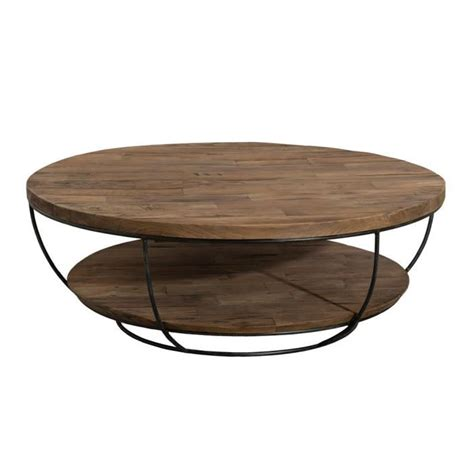 Table Basse Bois Ronde by Table Basse Ronde Bois Et Metal Achat Vente Table