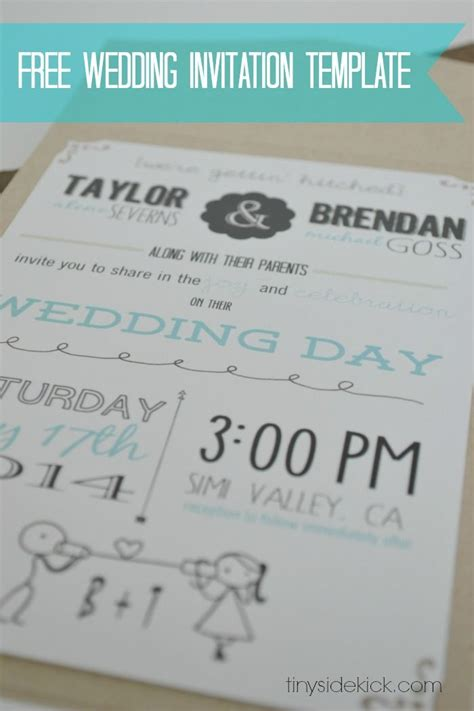 customizable wedding invitation template with inserts wedding and event stationery decor