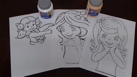artesanato com quelli risco de boneca para pintar em apostila 50 riscos de bonecas pintura em tecido video aula