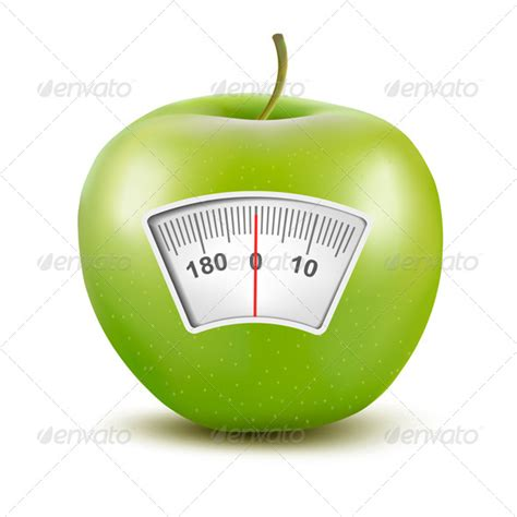 apple diet apple with a weight scale diet concept by almoond