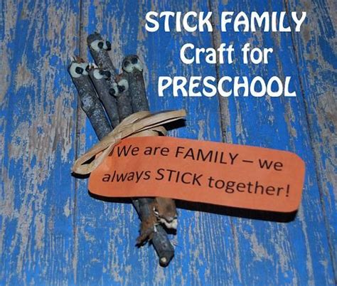 family crafts my family family tree stick crafts for preschool