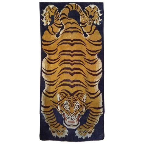 tiger rug with antique tibetan tiger rug at 1stdibs