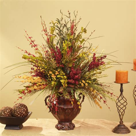 home decor floral arrangements silk flowers wildflowers grass ar226 75 floral home