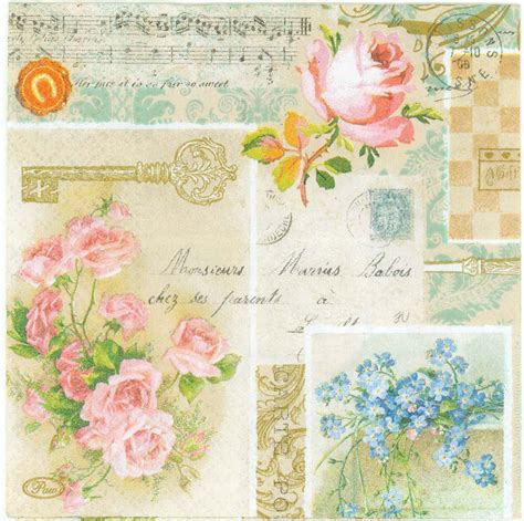 Decoupage Vintage - vintage decoupage papers pictures to pin on