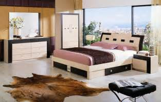 Italy wood design bedroom furniture with extra storage modern beds