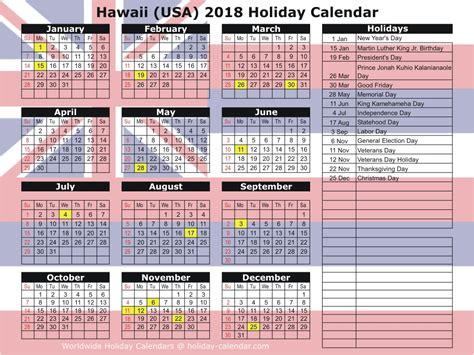 Calendar 2018 Usa Holidays Hawaii Usa 2018 2019 Calendar
