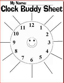 printable clock partners free clock buddy sheet by brooke beverly teachers pay