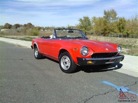fiat spider 1981 1981 fiat 124 sport spider related infomation