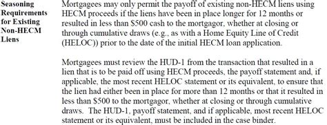 Mortgage Letter 2014 21 Mortgage Seasoning Requirements