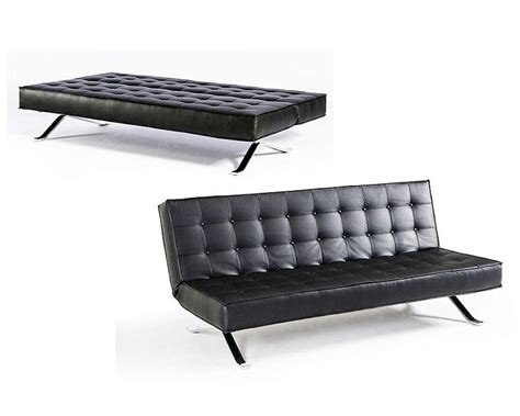 contemporary eco leather sofa bed 44l6031